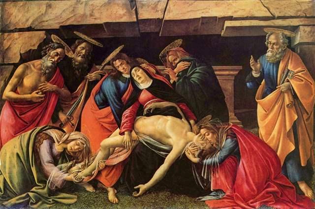 Biografia e obras de Botticelli na Itália-cristo-morto