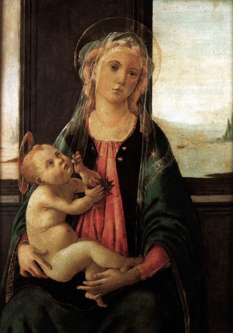 Biografia e obras de Botticelli na Itália. Madonna del Mare