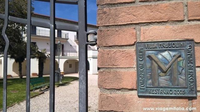 Dicas de Riccione, Emilia-Romagna. Villa Mussolini