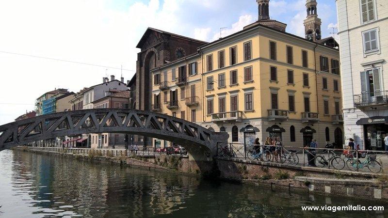 Projeto de Leonardo da Vinci: canais de Navigli, Milão