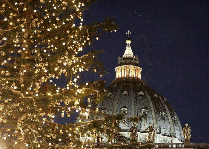 🎄 Árvore de Natal e Presépio na Praça São Pedro, Vaticano