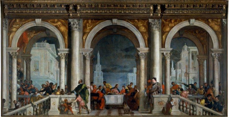 Banquete na Casa de Levi, Paolo Veronese, Galeria da Academia, Veneza