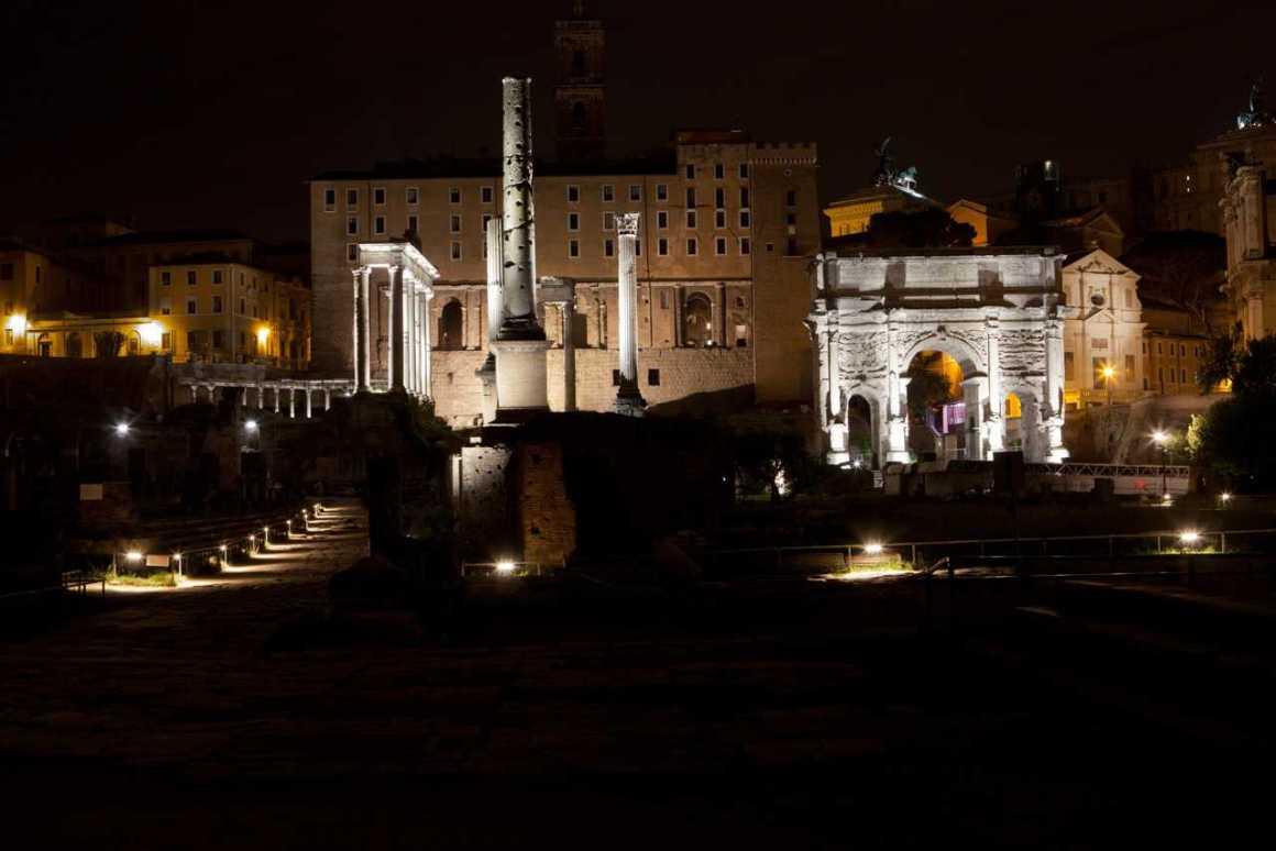 City tour noturno em Roma