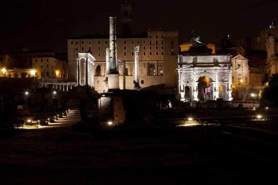 Visitas guiadas noturnas no Fórum Romano, Roma