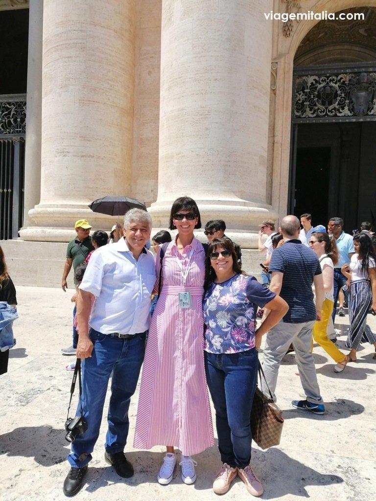 Maria Arruda, guia brasileira no Vaticano
