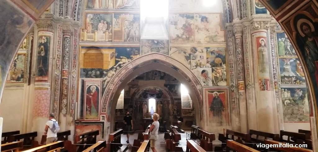 Afrescos da Basílica de Santa Catarina de Alexandria, Galatina, região Apúlia.