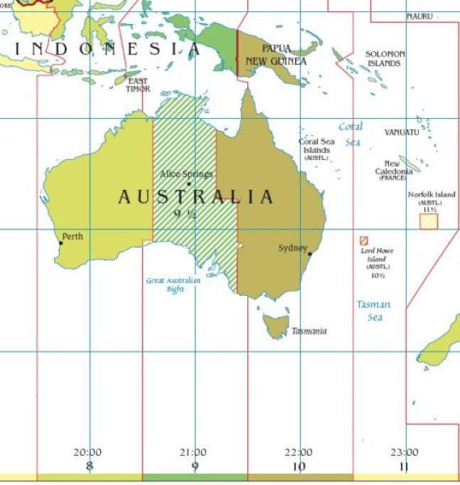 fuso orario australia