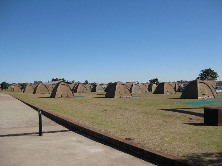 Campeggio su Cockatoo Island
