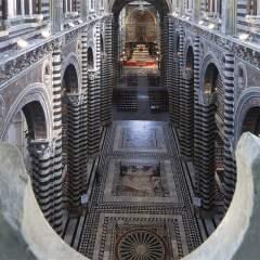 La cattedrale di Siena scopre il magnifico pavimento