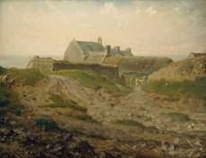Jean-François Millet, Fattoria a Vauville, Normandia, 1872-1874