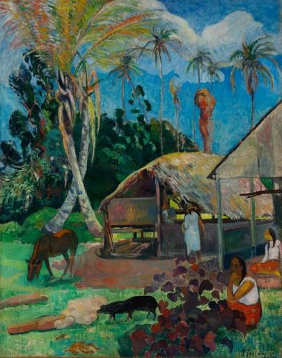 Paul Gauguin, Paesaggio tahitiano. I maiali neri, 1891