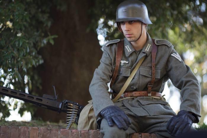 Un soldato tedesco cosplay al Lucca Comics & Games 2014