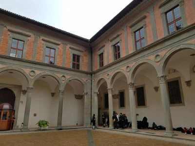 Palazzo Ducale a Gubbio, il Cortile d'Onore
