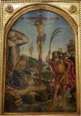 Crocifissione fra i santi Cristoforo e Girolamo alla Galleria Borghese