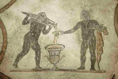 Sala del Triclinio, la mescita del vino