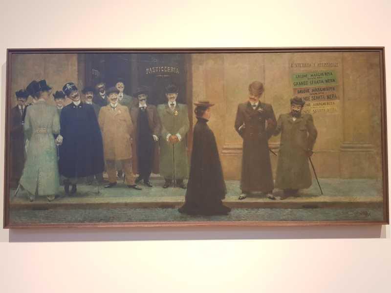 Giacomo Balla, Grande serata nera al Salone Margherita. Serata nera, Collezione Casamonti