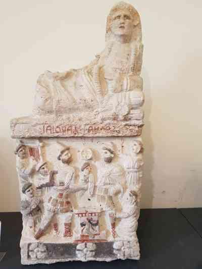 Antiquarium della necropoli, l'urna di Vel Satna