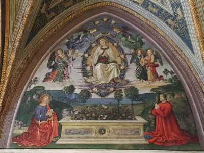 Pinturicchio Sala dei Misteri, Ascensione della Vergine, Appartamento Borgia