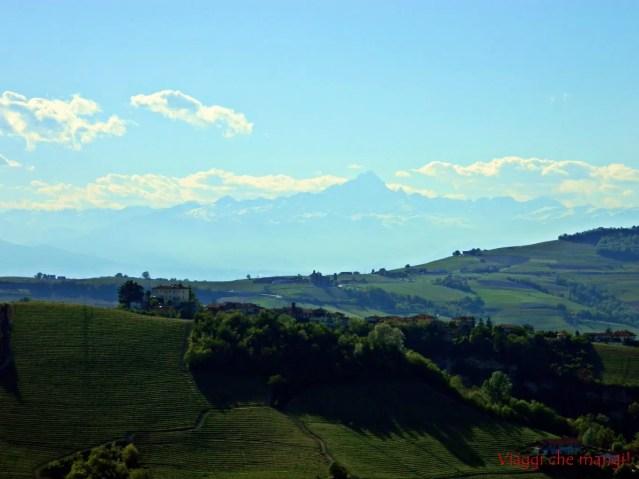 Monviso dal castello di Serralunga d'Alba.
