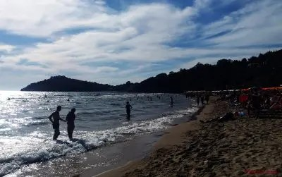 Spiaggia dei 300 gradini, una delle migliori spiagge di Gaeta.