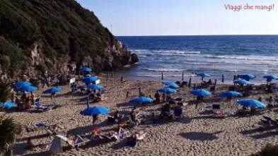 Spiaggia delle Sciussure, una delle bellissime spiagge nei dintorni di Gaeta.