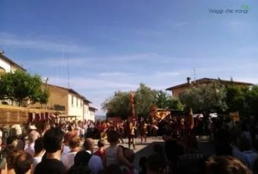 Festa Medioevale di Malmantile, sbandieratori.