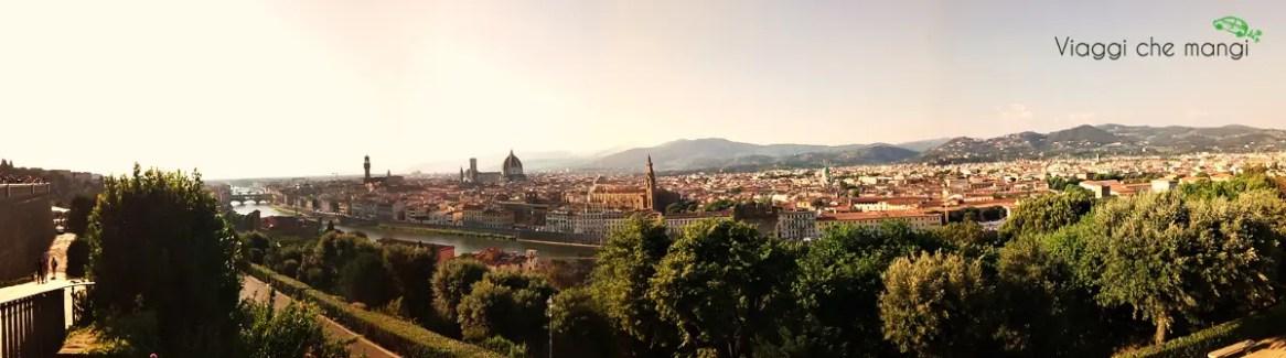 Panoramica, Firenze da Piazzale Michelangelo.