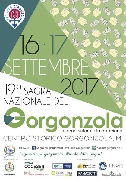 locandina della sagra del gorgonzola 2017, da https://prolocogorgonzola.it/