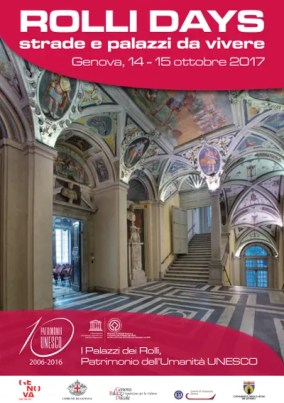 Rolli Days Genova 14 e 15 ottobre http://www.visitgenoa.it/sites/default/files/archivio/Rolli%20Days%20Genova%20Ottobre%202017.jpgda