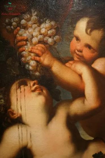 Domenico Piola, olio su tela, dettaglio dipinti autunnali.