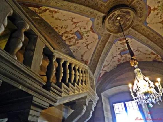 Scala nella stanza di Bianca Cappello, Villa medicea Poggio a Caiano.