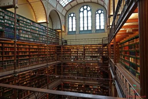 Biblioteca del Rijksmuseum. visitare amsterdam in 4 giorni