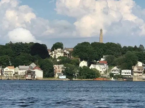 Fort Griswold Battlefield State Park from water taxi, Groton, CT.