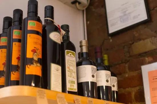 Italian products at Un Posto Italiano, an italian store in Brooklyn.