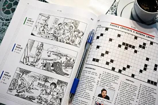 Le parole crociate sono uno dei migliori giochi da viaggio.