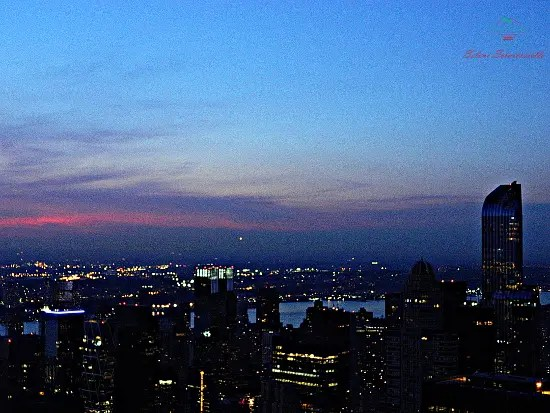 Manhattan al crepuscolo dal Top Of The Rock.