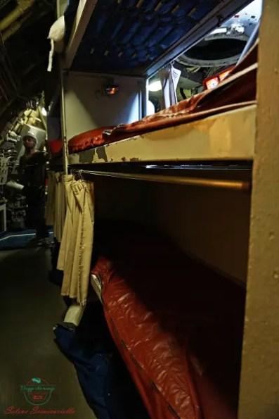Al galata museo del mare, uno dei migliori musei di genova, si possono visitare le Cuccette del sottomarino Nazario Sauro.