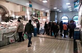Banchi di Pescheria al Mercato di Porta Palazzo a Torino.
