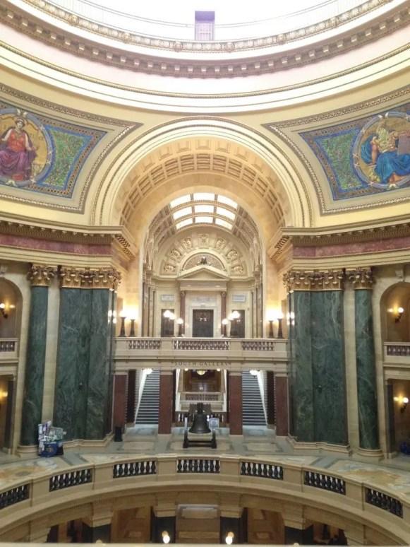 Gli interni del Wisconsin State Capital, © Giusy Clementi.