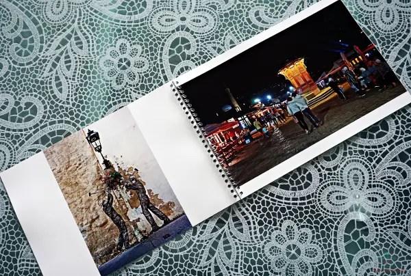 Pagine di uno degli album fotografici online che si possono stampare con saal digital.