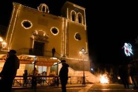 La piazza di Carpino durante la festa Frasca, Fanoia e olio novello.