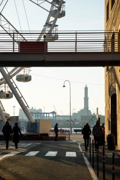 Cosa vedere al Porto Antico: Ruota panoramica di Genova.