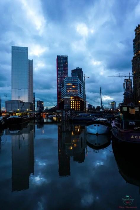 Skyline di Rotterdam.