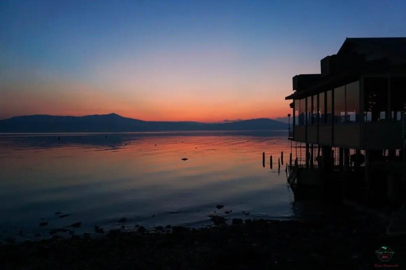 Cosa vedere al Lago di Viverone: il tramonto.