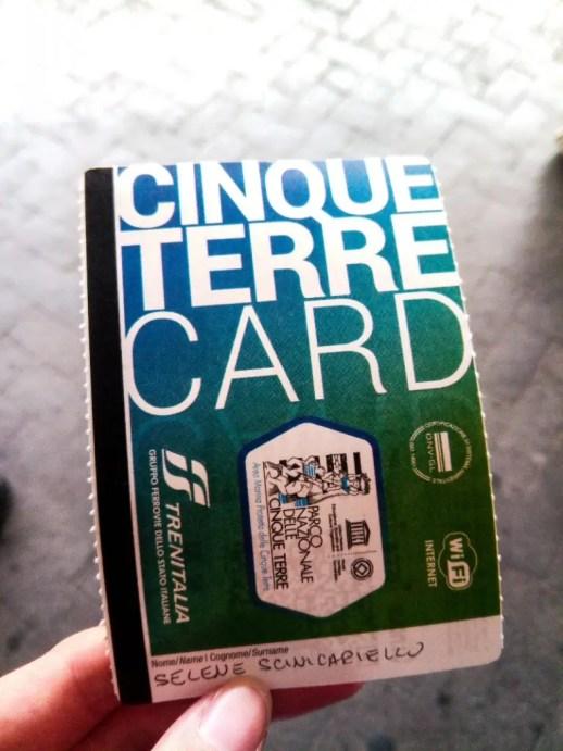 La Cinque Terre Card Treno è il metodo più comodo per visitare le cinque terre in treno.