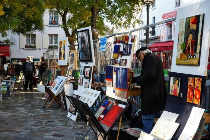 Gli artisti di Montmartre.