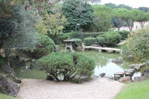 Laghetto del giardino giapponese roma
