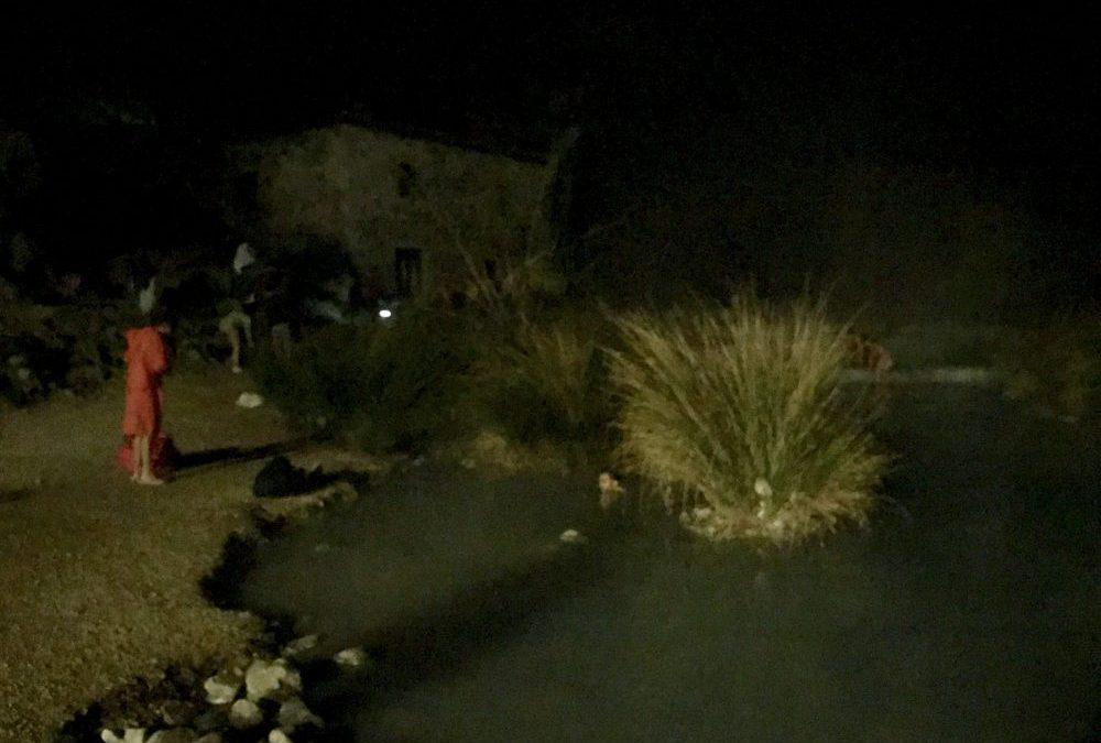 Le Cascate di Saturnia di notte