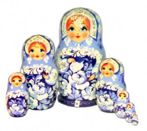 Esempio di ceramica Gzhel'