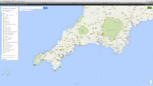 Mappa itinerario Cornovaglia